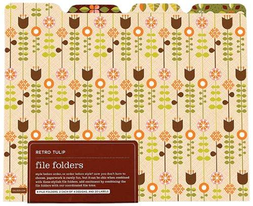 9780735324534: Retro Tulip File Folders