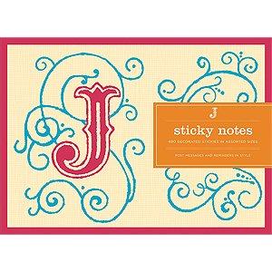 9780735326804: Galison Letter J Monogram Sticky Notes