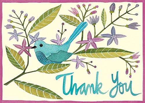 9780735330740: Galison Avian Friends Thank You Note Cards, Multi-color (Set of 12)