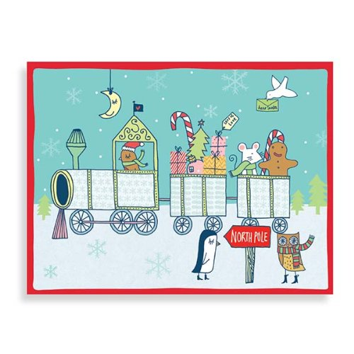 9780735331693: Kate Sutton Holiday Train Boxed Draw Holiday Notecards