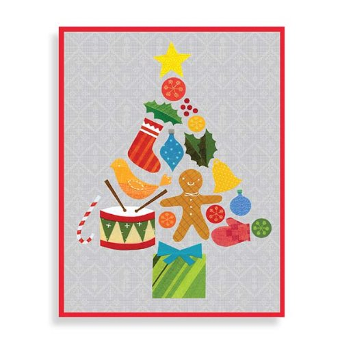 9780735331778: Tree Collage Boxed Draw Holiday Notecards
