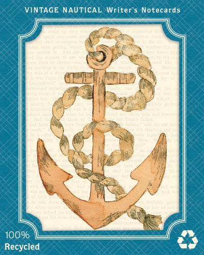 Vintage Nautical Eco Writer's Notecards: Galison
