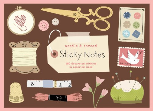 9780735333338: Needle and Thread Sticky Notes