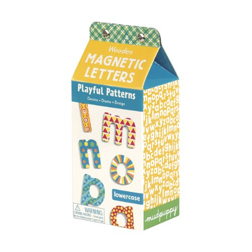9780735333451: Playful Patterns Wooden Magnetic Letters: lowercase