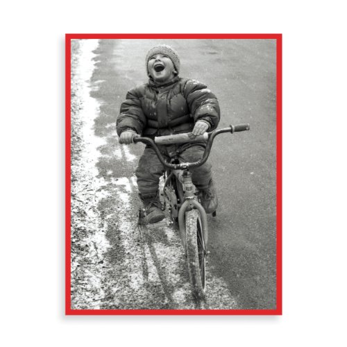 9780735334601: Boy on Bike Boxed Draw Holiday Notecards