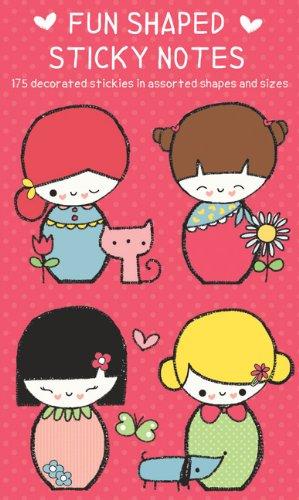 9780735336322: Japenese Dolls Fun Shaped Sticky Notes