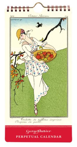 9780735340176: The Art & Fashion of George Barbier Perpetual Slimline Calendar