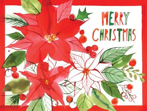 9780735341210: Christmas Poinsettia (Christmas Full Note Box Notecard)