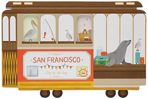 9780735342460: San Francisco Cable Car Shaped Cover Sticky Notes