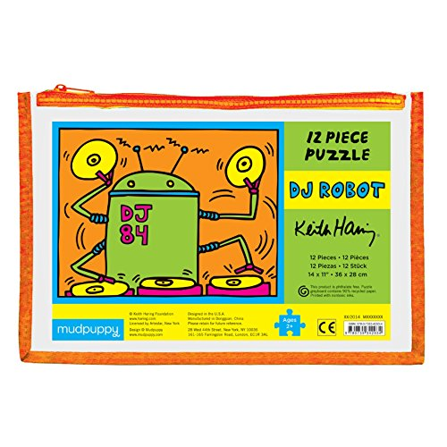 9780735342934: Keith Haring Dj Robot Pouch Puzzle: 12 Piece