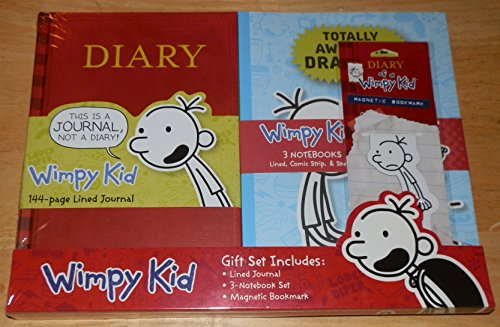 9780735343108: Diary of a Wimpy Kid Gift Set - Lined Journal (Diary) 3 Notebook Set & Magnetic Bookmark