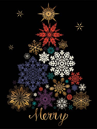 9780735344136: Festive Snow Tree Large Embellished Holiday Notecards
