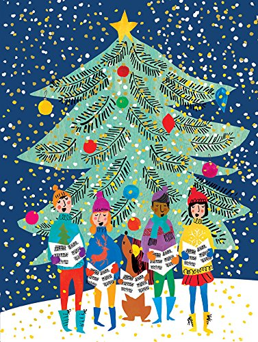 9780735344143: Christmas Carolers Large Embellished Holiday Notecards
