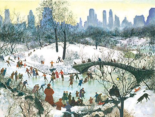 9780735344198: Skating in Central Park Boxed Holiday Full Notecards (Christmas Cards)