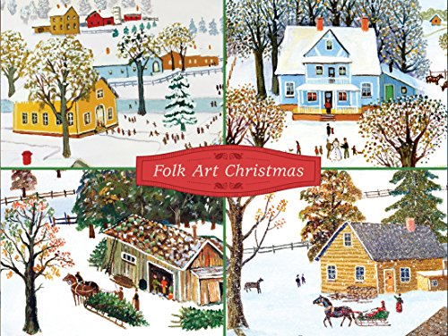 9780735344372: Folk Art Christmas Deluxe Holiday Notecards