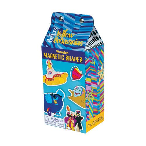 9780735344525: Mudpuppy The Beatles Yellow Submarine Wooden Magnetic Shapes