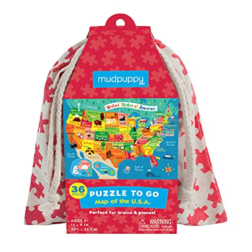 9780735346000: Map of the U.S.A. Puzzle to Go: 36 Pieces