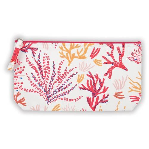 9780735346796: Coral Handmade Embroidered Pouch