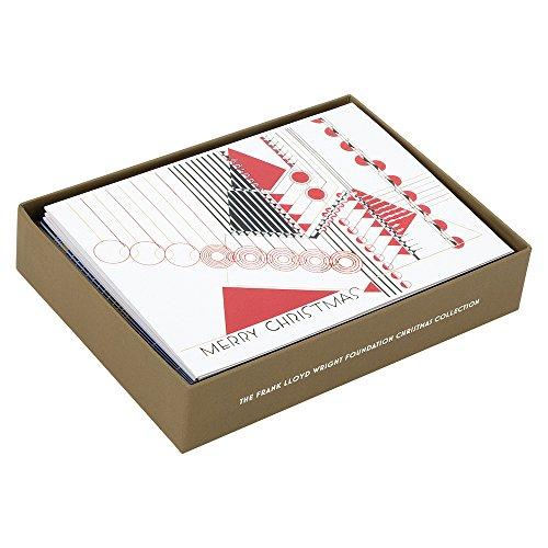 Frank Lloyd Wright Foundation Holiday Luxe Notecard Set: Galison