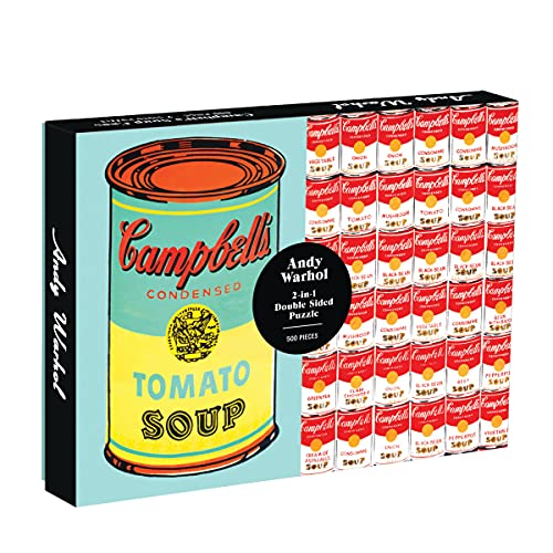 Andy Warhol Soup Can 2-sided 500 Piece: Galison, Andy Warhol
