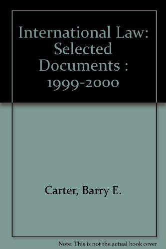 9780735500426: International Law: Selected Documents : 1999-2000