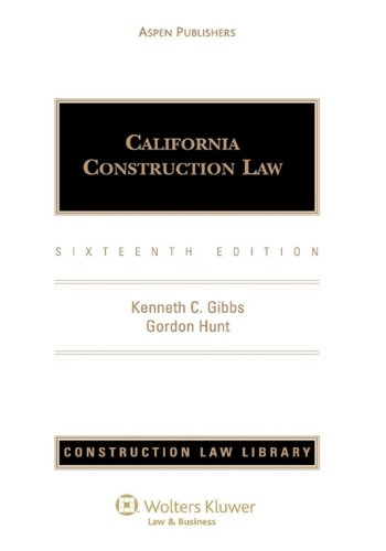 9780735505452: California Construction Law