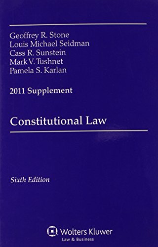 9780735507371: Constitutional Law, 2011 Supplement
