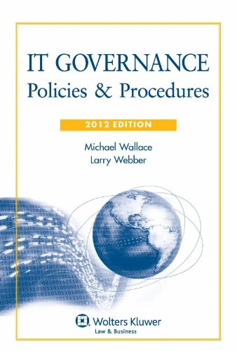 9780735509153: IT Governance: Policies & Procedures, 2012 Edition with CD