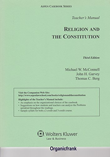 9780735509832: Teacher's Manual to Religion and Constitution, 3rd Edition