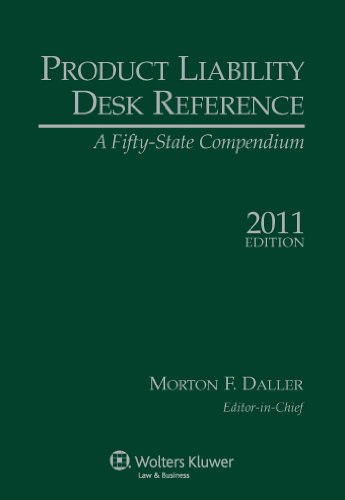 9780735509900: Product Liability Desk Reference 2010-2 Edition