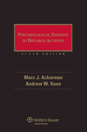 9780735510326: Psychological Experts in Divorce Actions, 5th Edition