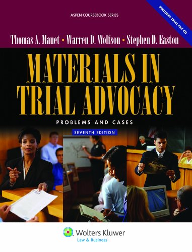 9780735510449: Materials in Trial Advocacy: Problems & Cases, 7th Edition (Aspen Coursebook Series)