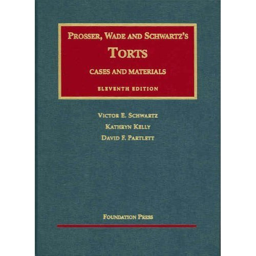 9780735512139: Cases and Materials on Torts (Casebook)