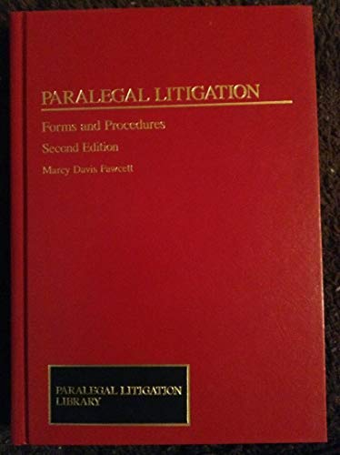 9780735512627: Paralegal Litigation: Forms and Procedures