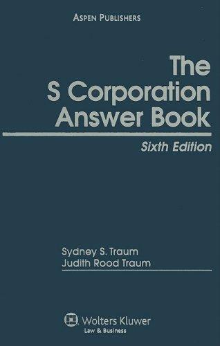 9780735515949: S Corporation Answer Book: Cumulative Supplement