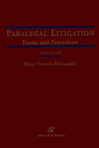 9780735516762: Paralegal Litigation: Forms and Procedures