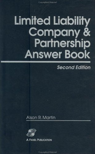 9780735516779: Limited Liability Company and Partnership Answer Book, 2nd Edition