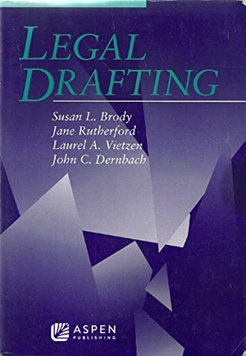 9780735516939: Legal Drafting (Coursebook)