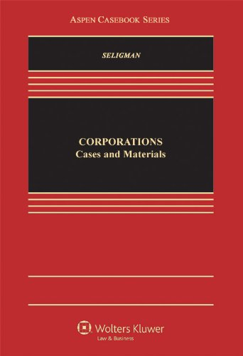 9780735516984: Corporations: Cases and Materials (Casebook Series)