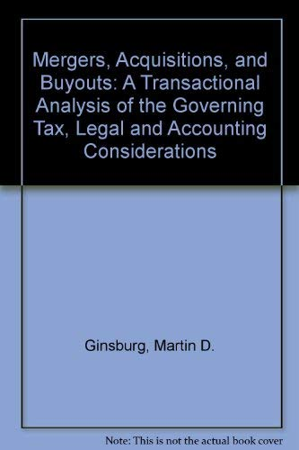 9780735518735: Mergers, Acquisitions, and Buyouts