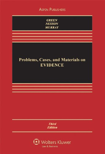 9780735519831: Problems, Cases, and Materials on Evidence 3rd Edition (Casebook)