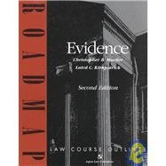 9780735520028: Evidence: Aspen Roadmap Law Course Outline, Second Edition
