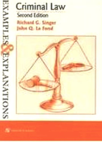 9780735520134: Criminal Law: Examples and Explanations (Examples & Explanations Series)