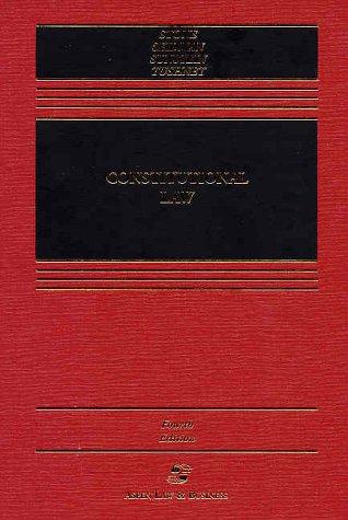 9780735520165: Constitutional Law (Casebook Series)