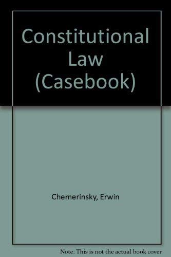 9780735520615: Constitutional Law: Cases and Materials with Book (Casebook Series)