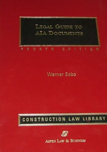 9780735523661: Legal Guide to Aia Documents