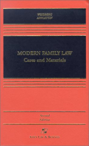 9780735524002: Modern Family Law: Cases and Materials (Aspen Law & Business Paralegal Series)