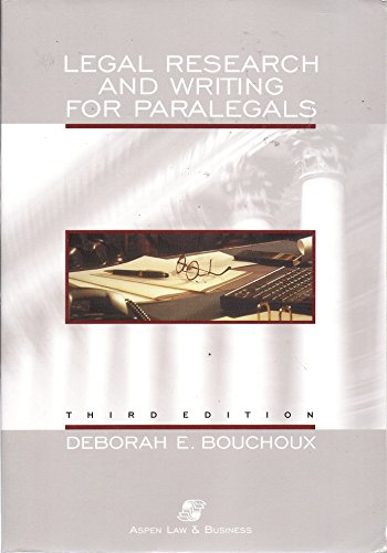 9780735524125: Legal Research and Writing for Paralegals