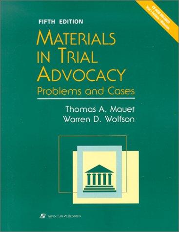 9780735524767: Materials Trial Advococy 5/E Bk (Coursebook Series)