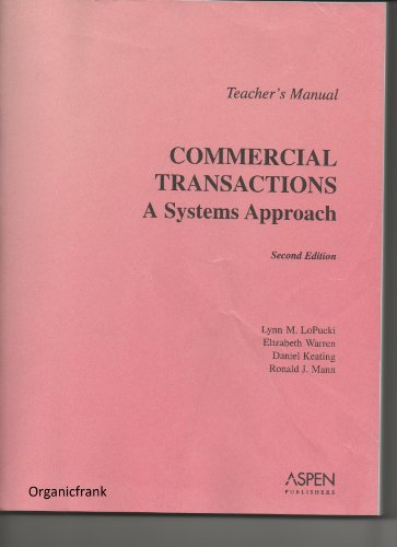 9780735526440: Teacher's Manual to Commercial Transactions - A Systems Approach, - 2nd Ed.